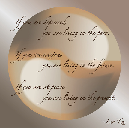 Lao Tzu Quote with Ying Yang